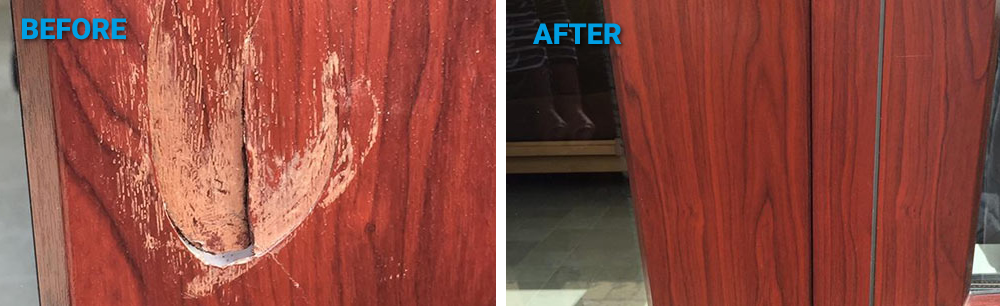 before and after surface medic damage repair